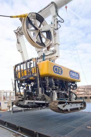 A Modus CT2, which was used to dig subsea trenches for the Teesside Wind Farm