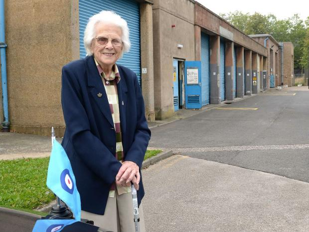 Joan Coppack visiting RAF Linton-on-Ouse 70 years after she was first stationed there