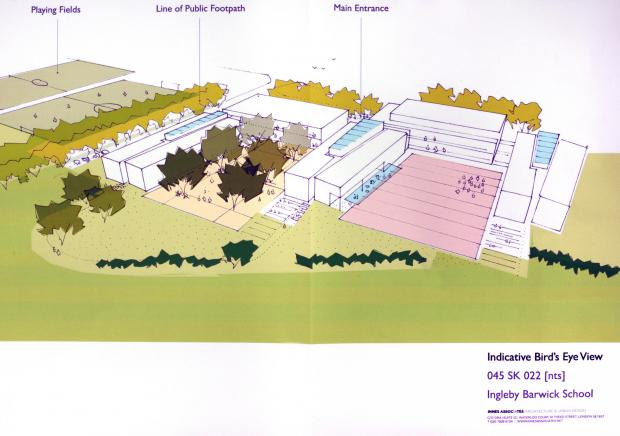 Artist's impression of new free school planned for Ingleby Barwick