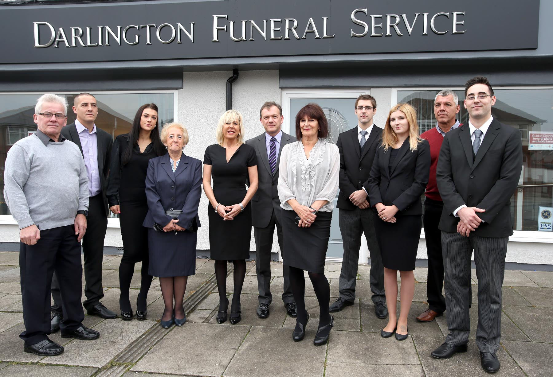 NEW BUSINESS: Staff from Darlington Funeral Service