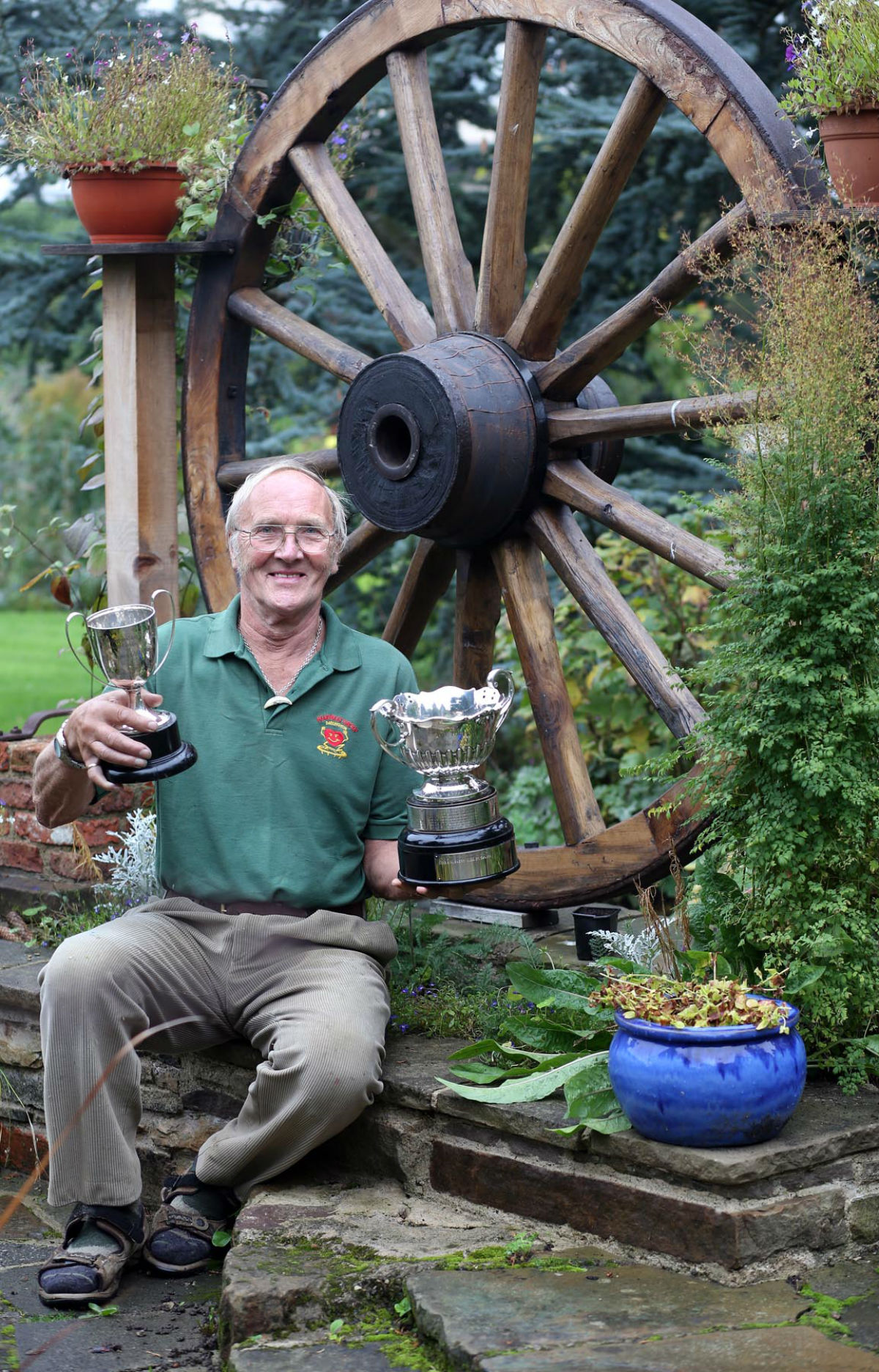 Malcolm Short, winner of Darlington in Bloom best overall garden, in his haven