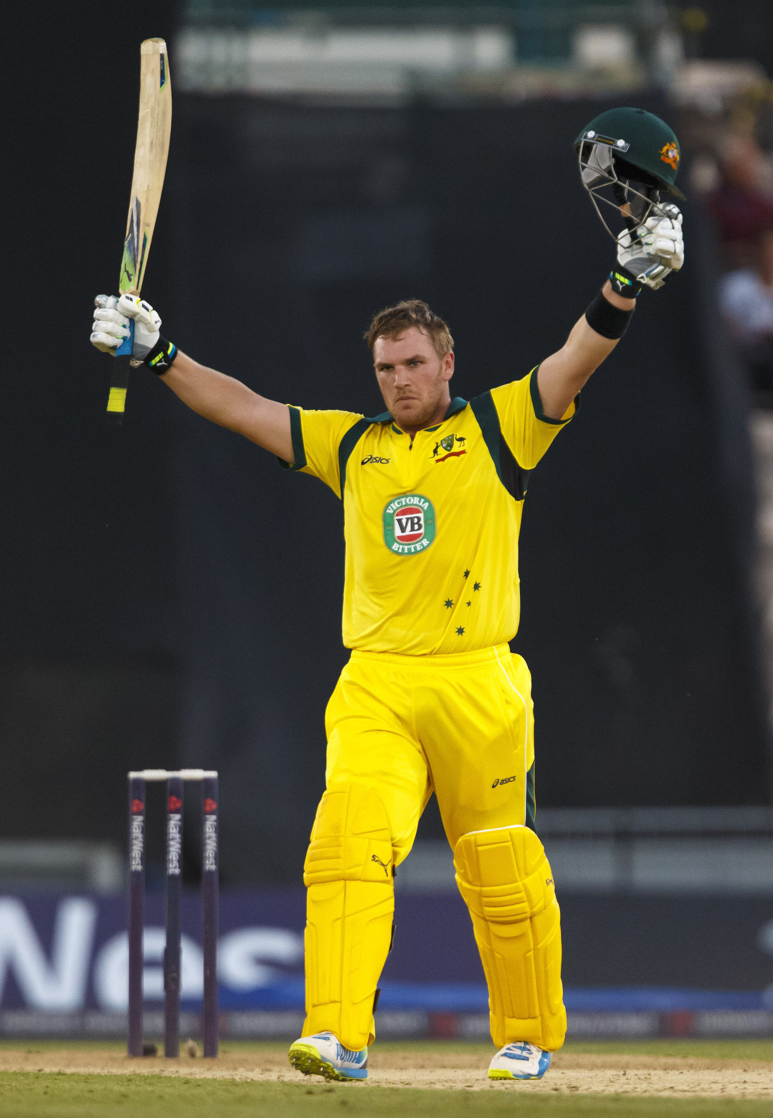 PLAYING IT SAFE: Aaron Finch