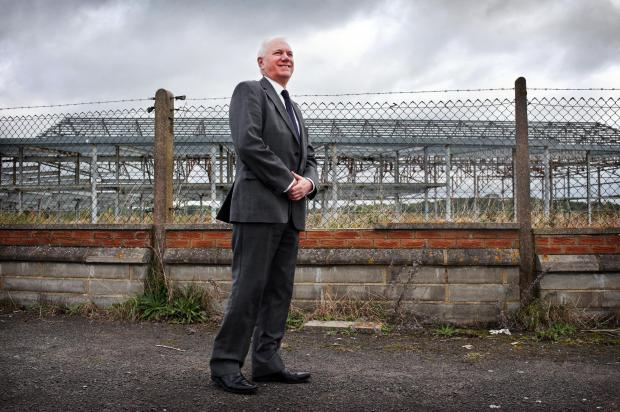 Peter Nears, Peel's strategic planning director, stood at the former sports and tennis centre hangar building at Durham Tees Valley Airport