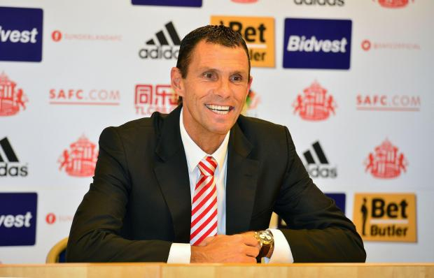 The Northern Echo: Gus Poyet at Sunderland this afternoon