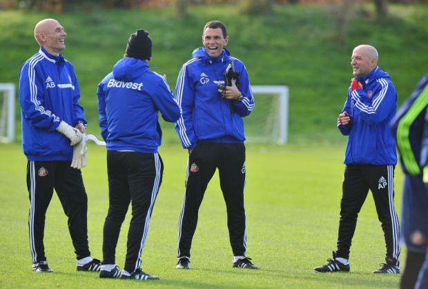 On the training ground: Gustavo Poyet believes his methods are working