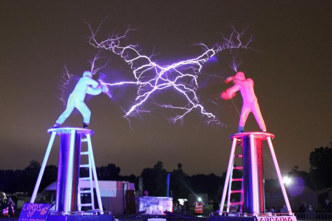 High voltage entertainment at spooky stockton halloween walk the lords of lightning will be entertaining thrillseekers at preston park museum and grounds on publicscrutiny Choice Image