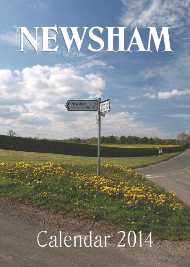 Dick Parker's photo features on the front cover of Newsham's 2014 calendar