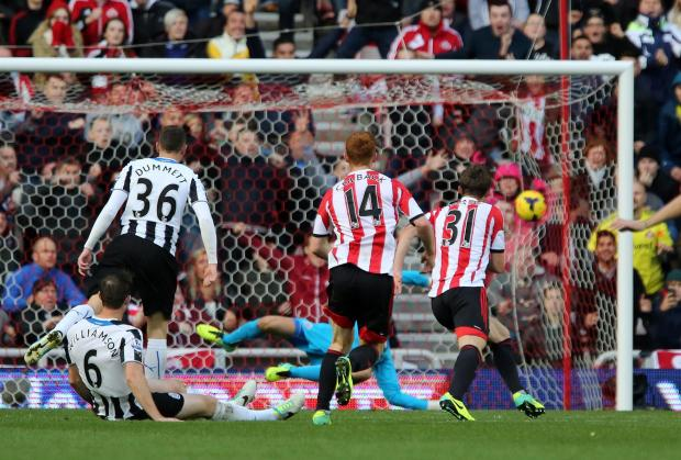 DERBY DAY: Fabio Borini settled the last derby between Newcastle United and Sunderland with a dramatic late winner at the Stadium of Light