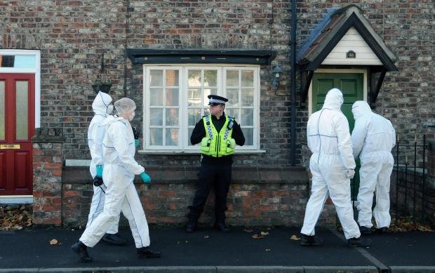 The Northern Echo: Forensic officer's at Miss Lawrence's home for the new investigation