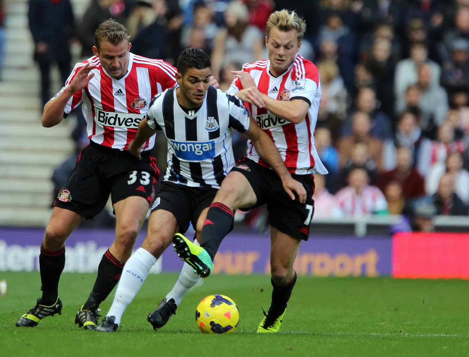MATCH WINNER: Alan Pardew has challenged Hatem Ben Arfa to play a crucial role in today's Tyne-Wear derby with Sunderland