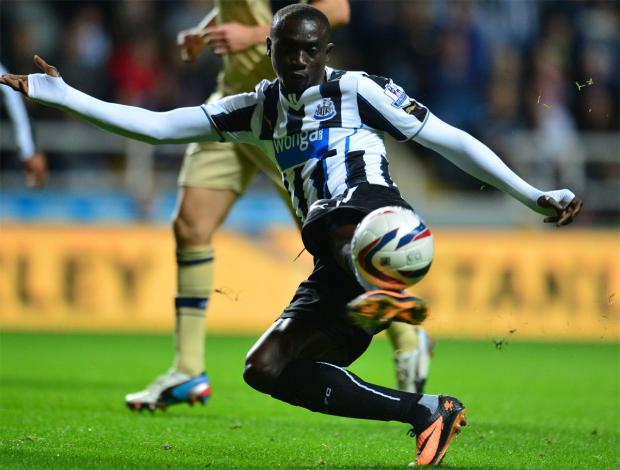 German hit: Papiss Cisse was a prolific goalscorer in the Bundesliga and could be heading for Borussia Monchengladbach