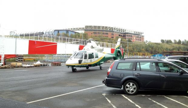 Great North Air Ambulance Service attend incident in Sunderland