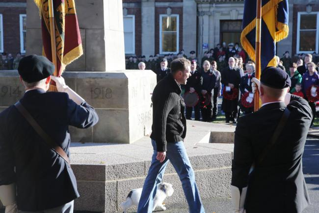 Lone Protestor Disrupts Act Of Remembrance In Darlington The