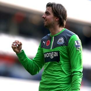 The Northern Echo: Tim Krul, pictured, kept Tottenham at bay after Loic Remy gave Newcastle the lead