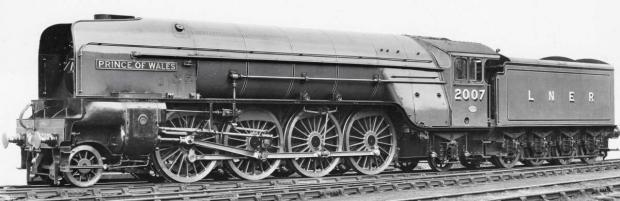 An artist's impression of the Prince of Wales locomotive, which will be built in Darlington