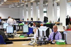 BASE: Staff in Amec Foster Wheeler's offices at Darlington's Lingfield Point
