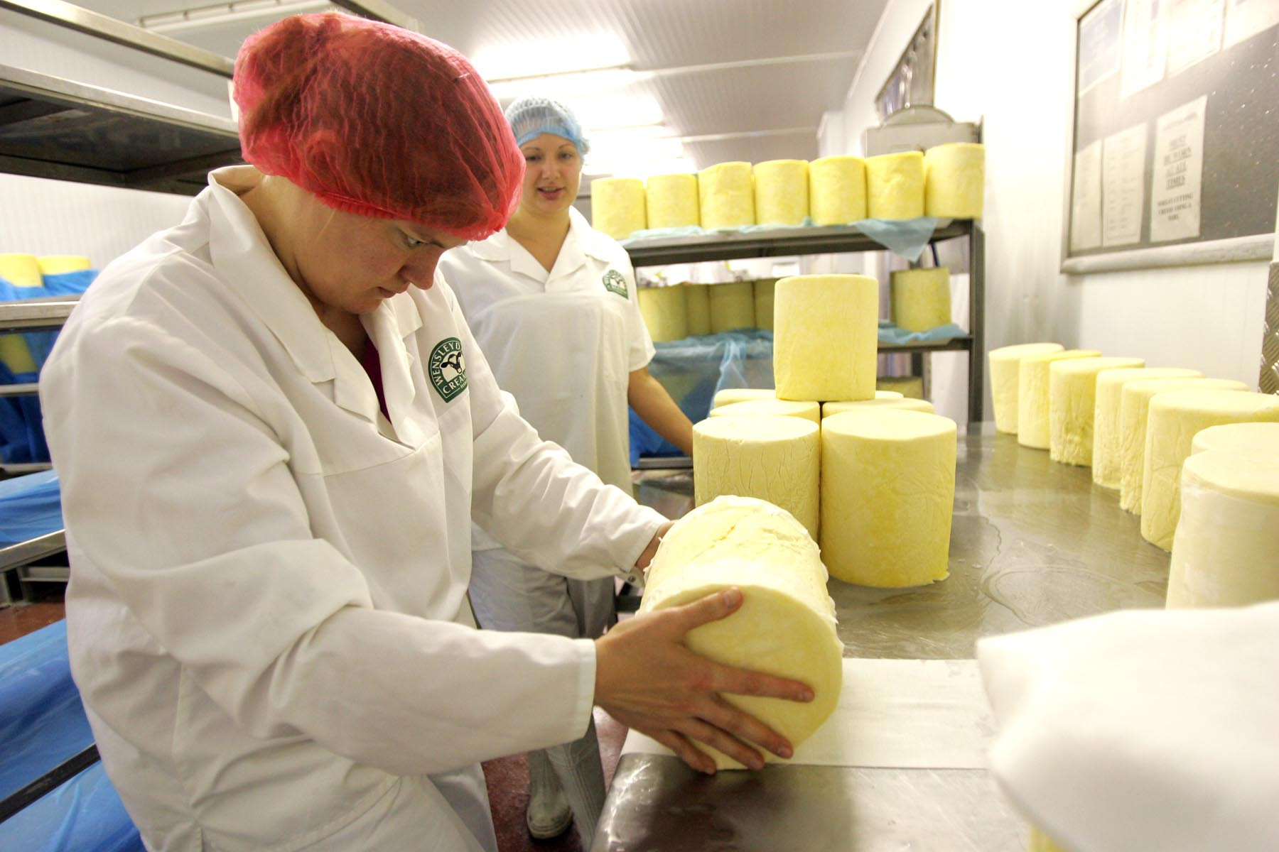 One of North Yorkshire's many local products, Yorkshire Wensleydale, being made at the Wensleydale Creamery, in Hawes. A food festival in Wensleydale has been cele