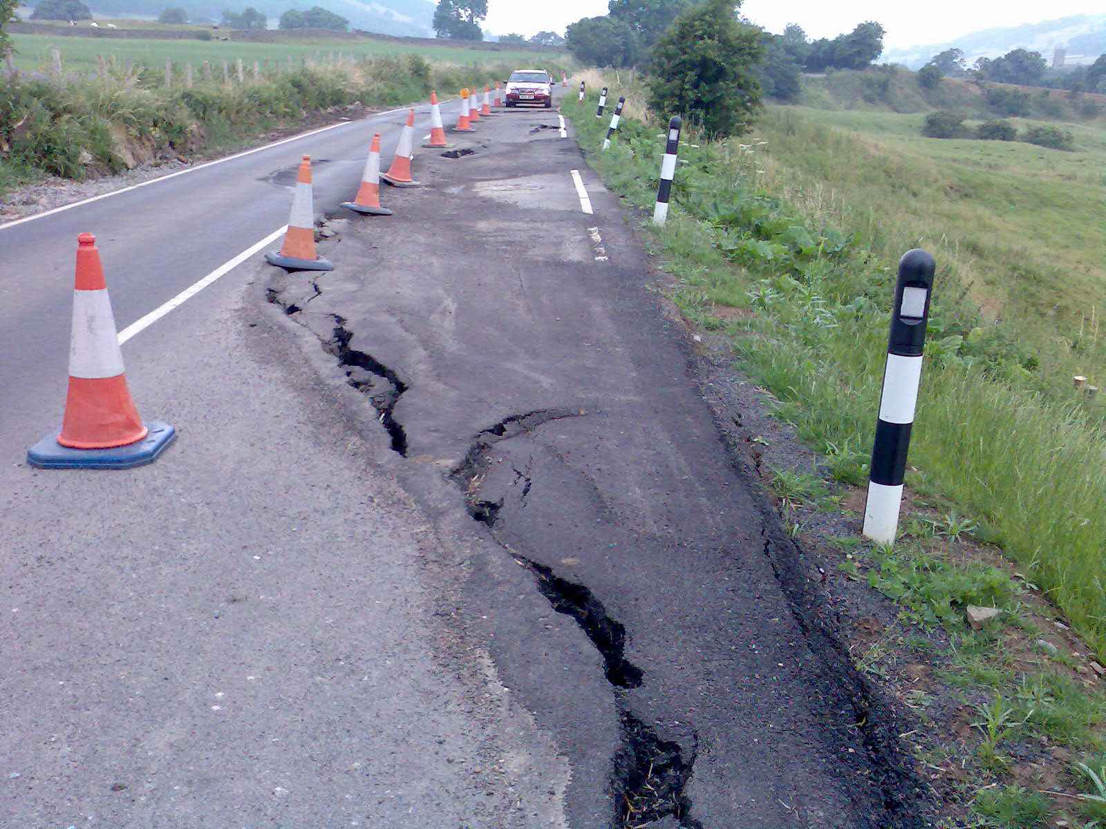 Part of the road between Reeth and Richmond to be repaired