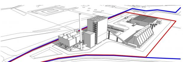 An artist's impression of the new biomass plant