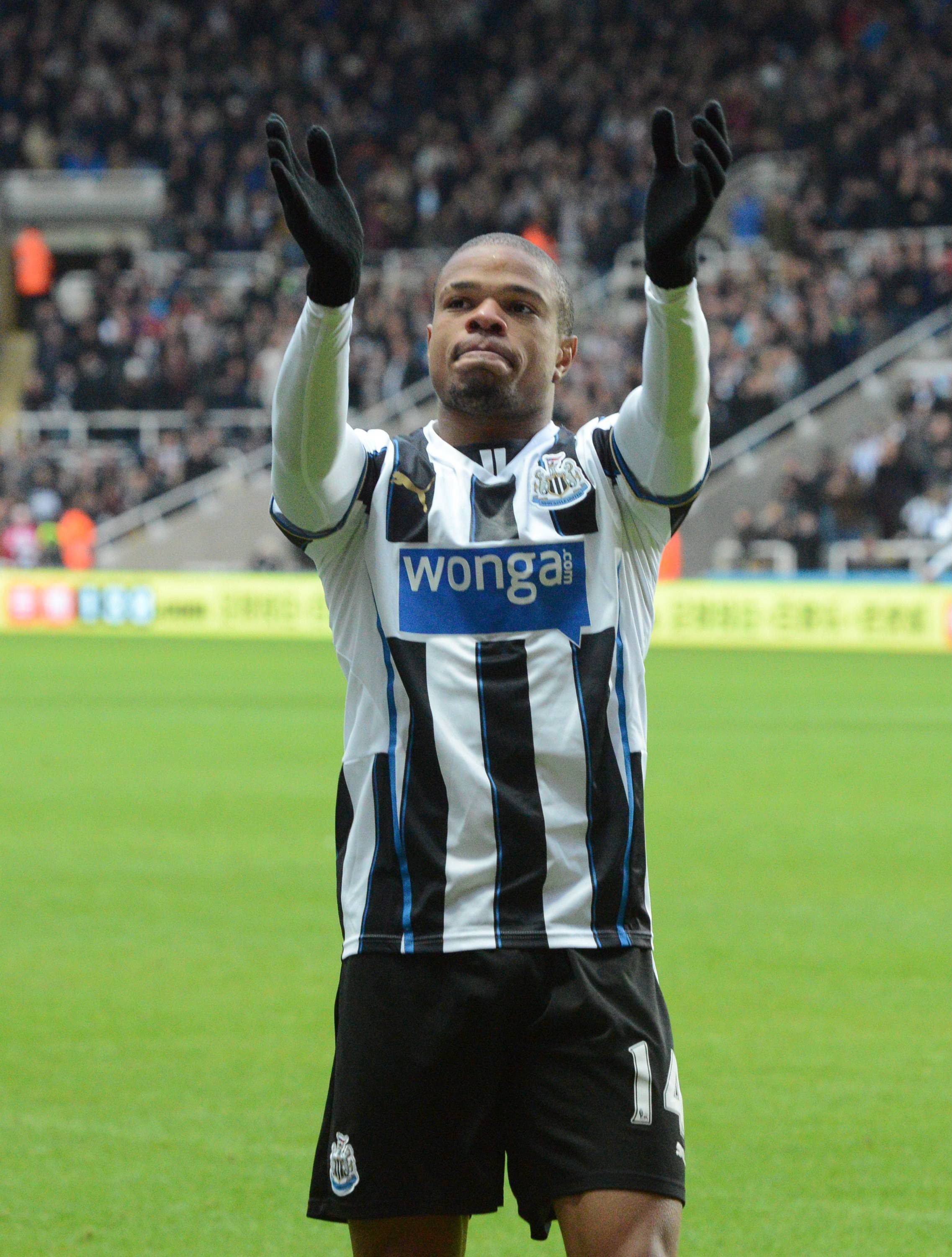 BACK IN FULL TRAINING: Loic Remy is set to return to Newcastle's starting line-up this weekend