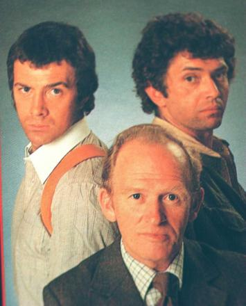 Lewis Collins (left) with Gordon Jackson and Martin Shaw