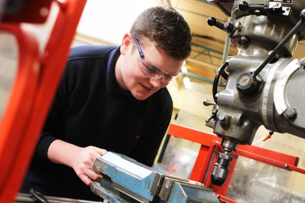 Apprentice James Bates learns his trade at South West Durham Training, in Newton Aycliffe