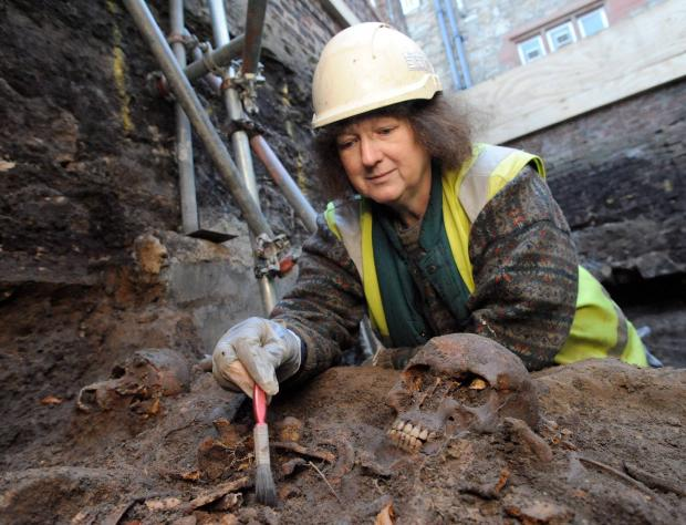 The Northern Echo: REG  Durham University archaeologist Janet Beveridge carrying out an excavation
