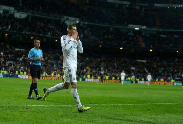 The Northern Echo: Gareth Bale celebrates scoring for Real Madrid against Real Valladolid