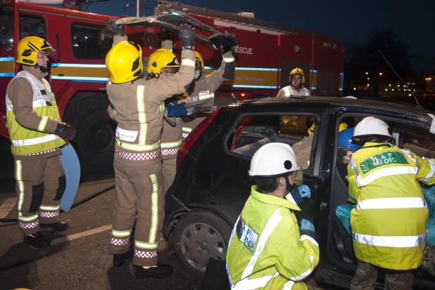 Drink drive crash scenario during Road Safety Week