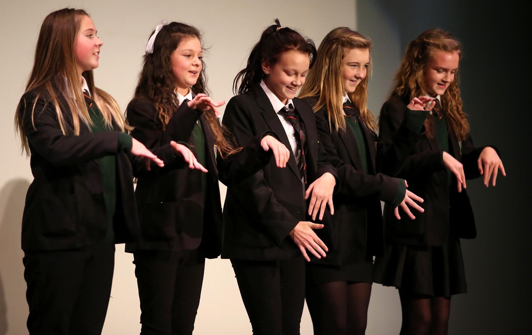 Greenfield Community College pupils take part in the Slam It performance poetry event