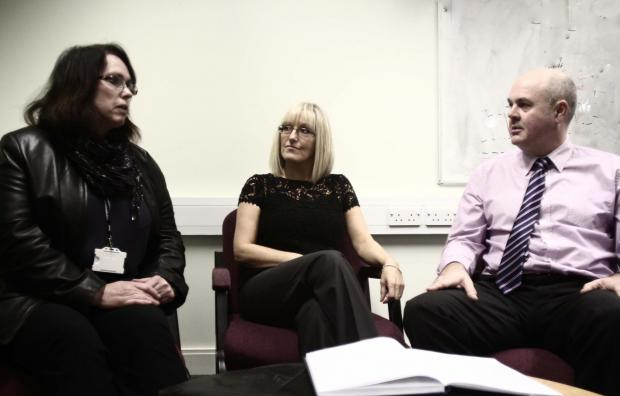 The Northern Echo: Victim co-ordinator Marian Garland, The Meadowfield Sexual Assault Referral Centre manager Bev Stoker and Detective Superintendent Paul Goundry