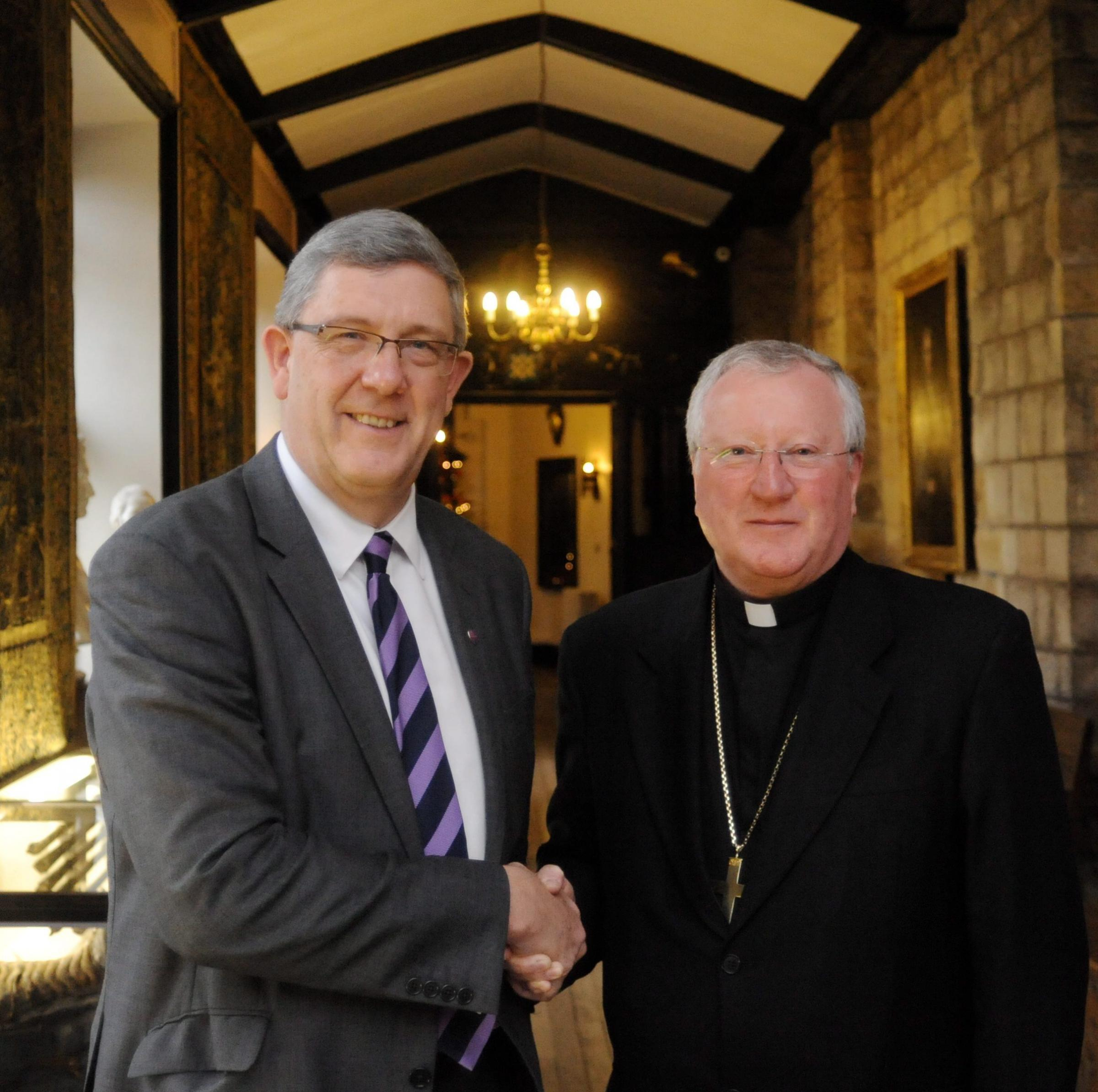 Professor Chris Higgins and Bishop Terence Drainey