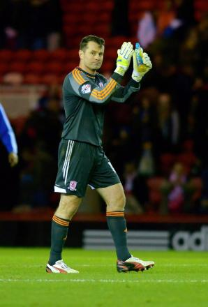 Blackpool return: Shay Given is expected to be back between the posts for Middlesbrough this weekend
