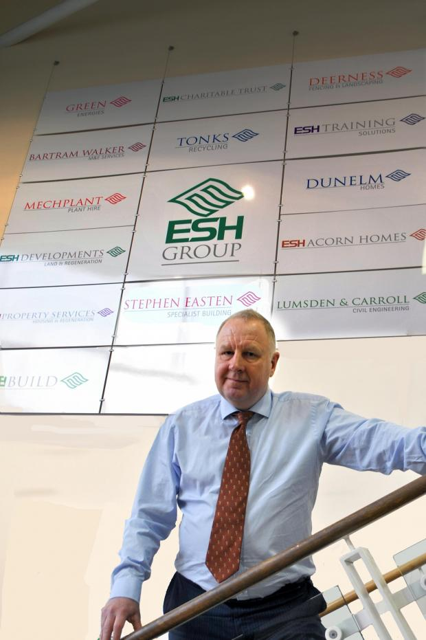 "The Northern Echo: Brian Manning, chief executive of Esh Group: ""We are now really looking forward to 2014 and building upon the success of 2013."""