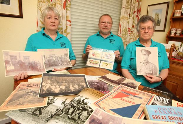 Sedgefield Local History Society are appealing for help to discover more about Sedgefield men who lost their lives in the First World War. Pictured are (l-r) Barbara Leo, Haydn Neal and Norma Neal, all fron the history society