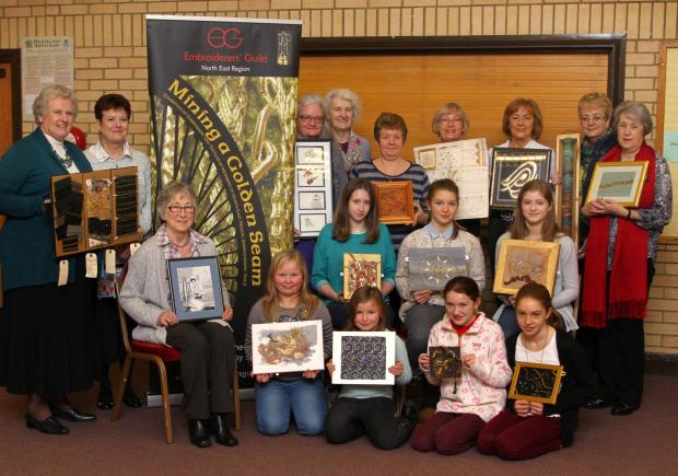 The Darlington Embroiderers' Guild who are going to Paris to exhibit their work, pictured at their meeting place Elm Ridge Methodist Church