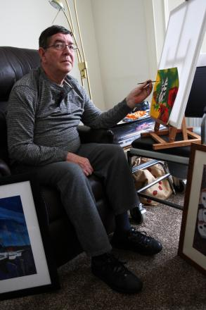 Tim McGee, of Annfield Plain, has turned to art following a stroke.
