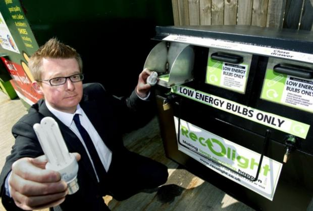 Cabinet member for the environment, Councillor David Rose, launched a recycling scheme for low energy bulbs in 2012.