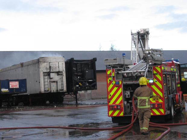 FIRE SCENE: Fire and rescue crews dealt with blaze on Shildon industrial estate