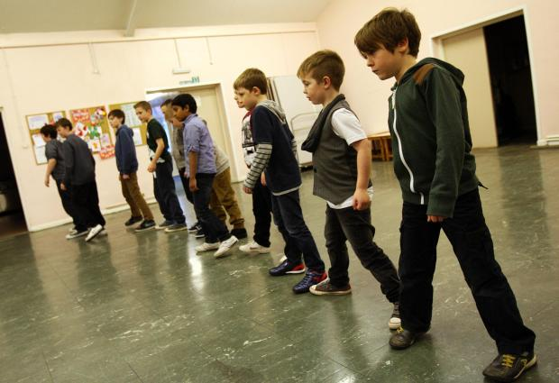 YOUNG TALENT: The young hopefuls at the open audition in Shildon Methodist Church Hall