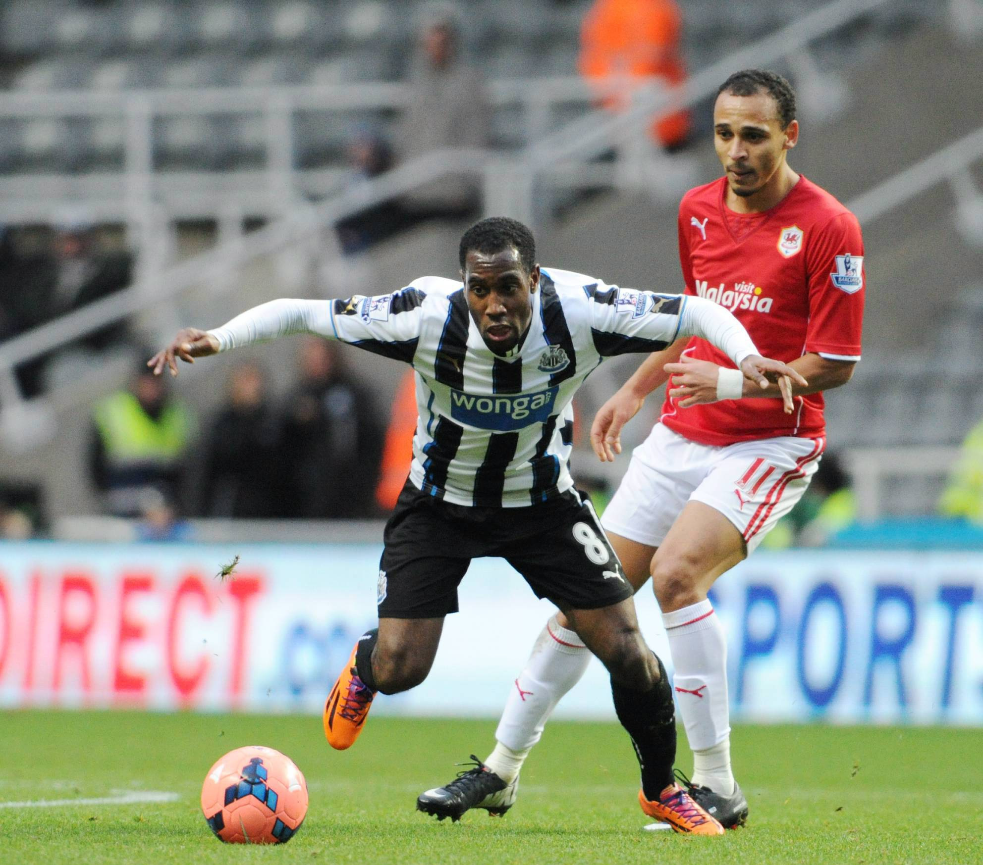 BIG FAN: Vurnon Anita has been impressed with Luuk de Jong's performances since joining Newcastle on loan