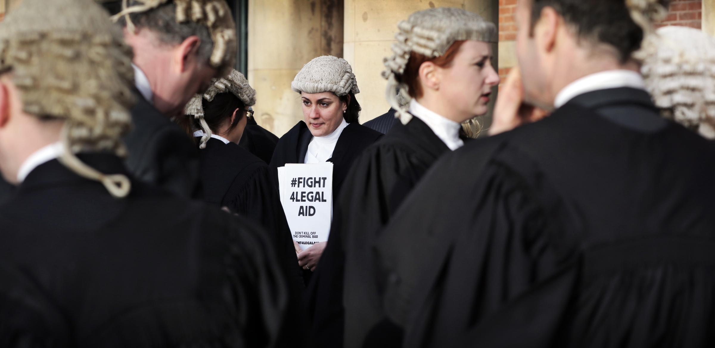 Barristers and solicitors take unprecedented action to protest against cuts to legal aid fees