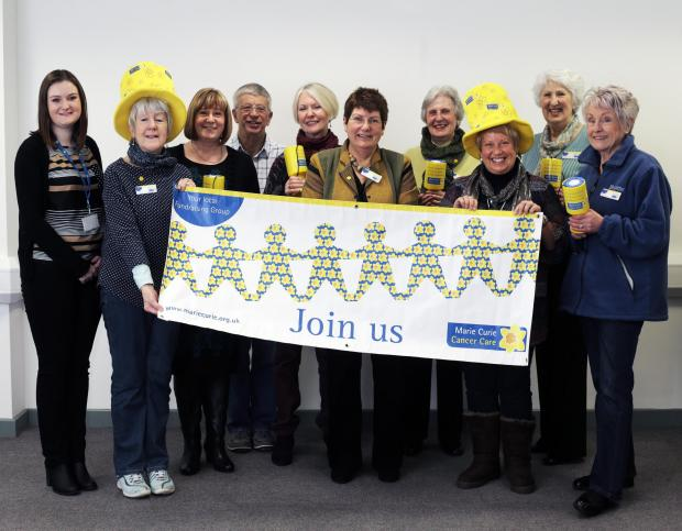 AMAZING SUPPORT: The Marie Curie fundraising group at yesterday's official launch