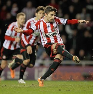 The Northern Echo: Fabio Borini scored from the penalty spot to earn Sunderland a 2-1 advantage in the first leg