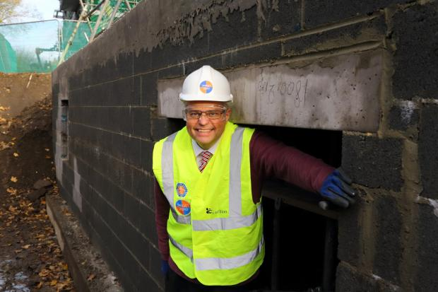 : Project Manager Ian Beaumont in the 'Bat Hotel'