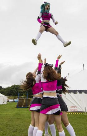 The Nemesis Allstars cheerleading dance team performs at last year's Great Aycliffe Show