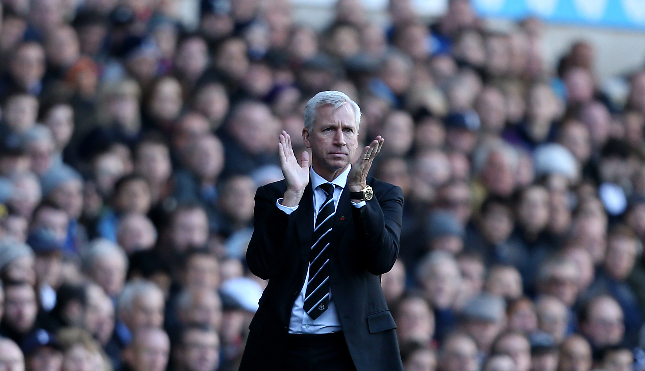 MAKING JANUARY PLANS: Newcastle boss Alan Pardew won't be as busy as he was 12 months ago