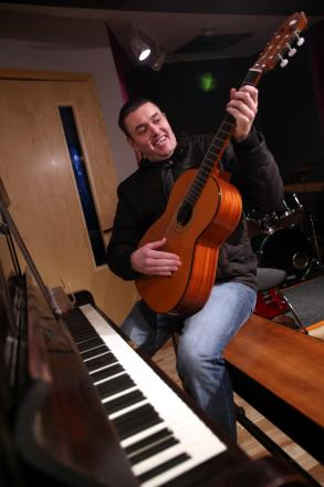 BUCKET LIST: Learning to play a musical instrument is one of the challenges Andrew Thompson has set himself as part of a 40th bi