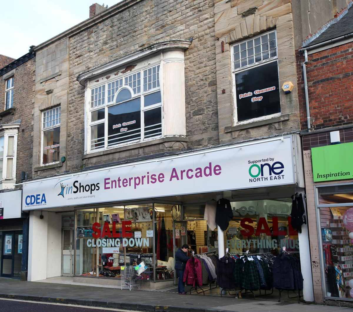 InShops Enterprise Arcade, Newgate, Bishop Auckland  -  the business has gone into administration.
