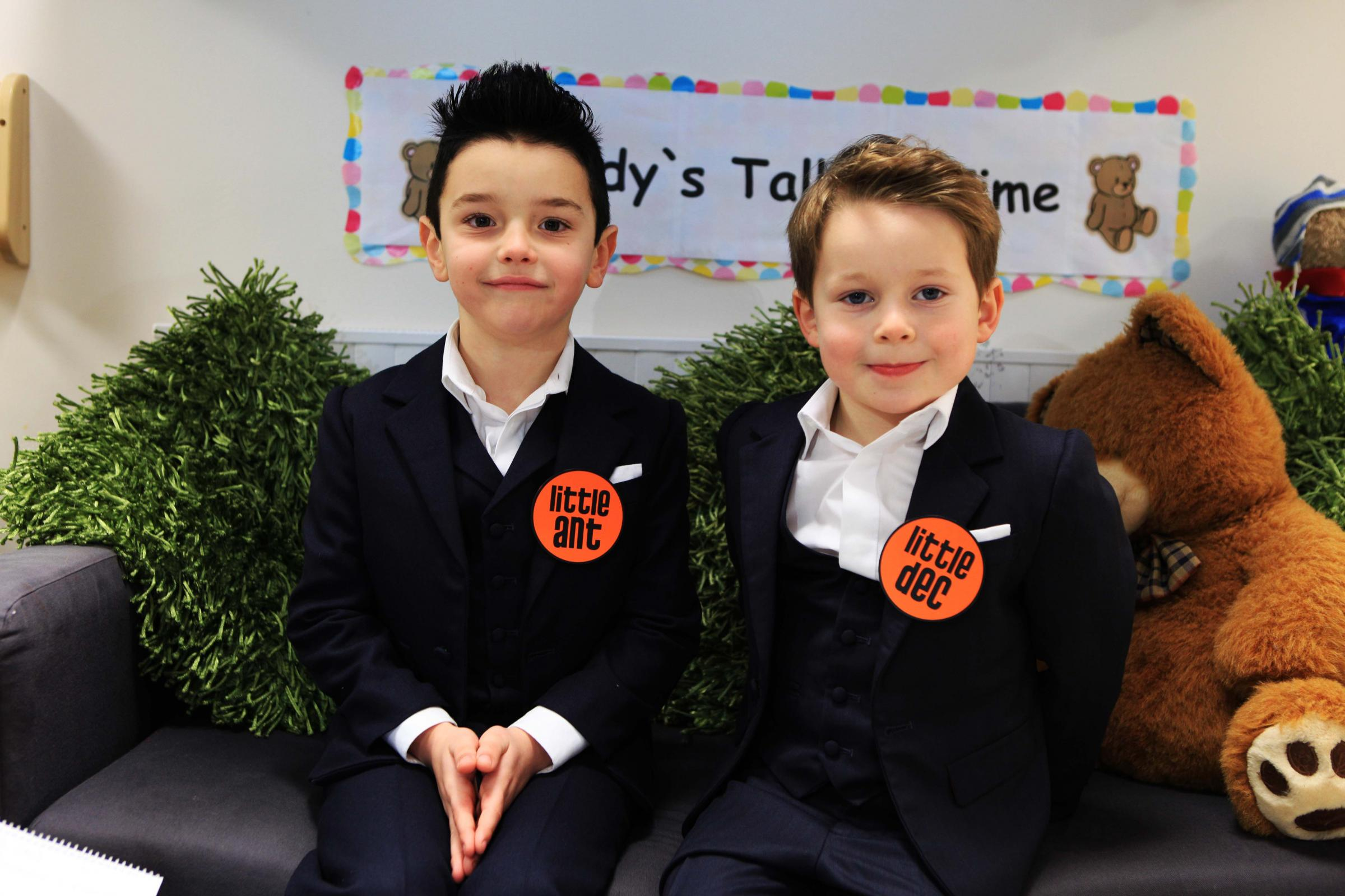 Little Ant (Neil Overend) and Little Dec (Haydn Reid) opened the newly refurbished nursery and reception area at Broom Cottages Primary and Nursery School in Ferryhill today